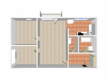 Pronájem bytu 3+kk, 58 m², Uherské Hradiště